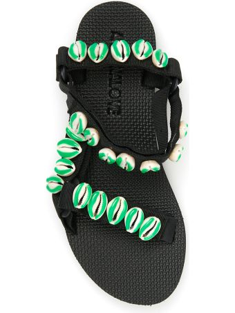 Arizona Love Green Shell Trekky Sandals