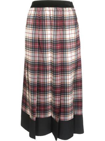 Shirt a Porter Tartan Printed Skirt