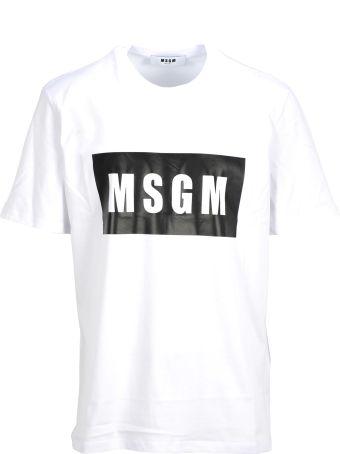 MSGM Tshirt Logo Placca