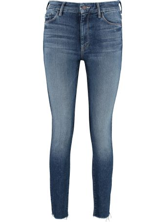 Mother High Waisted Looker Ankle Fray 5-pocket Jeans