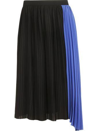 Kenzo Two-tone Pleated Skirt