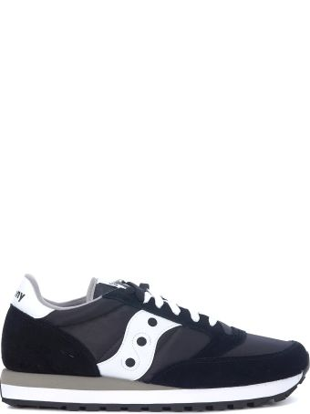 Saucony Jazz Black And White Leather And Nylon Sneakers