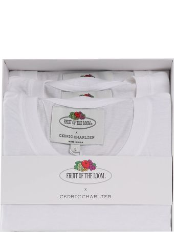 Cedric Charlier Three Pack Of Double-pockets Cotton-jersey T-shirts Fruit Of The Loom X Cedric Charlier