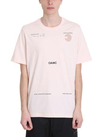 OAMC Schule Pink Cotton T-shirt