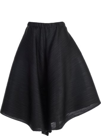 Pleats Please Issey Miyake Pleats Please By Issey Miyake Wide Cropped Drape Trousers