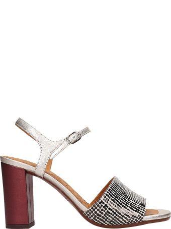 Chie Mihara Black And Silver Leather Ba-parigi Sandals