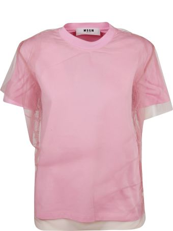 MSGM Layered Tulle T-shirt
