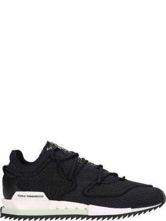 Y-3 Harigane Ii Black Mesh Sneakers