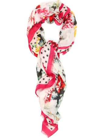 Dolce & Gabbana Poppies And Flowers Scarf