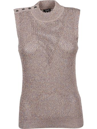 Jil Sander Navy Speckled Knitted Tank Top