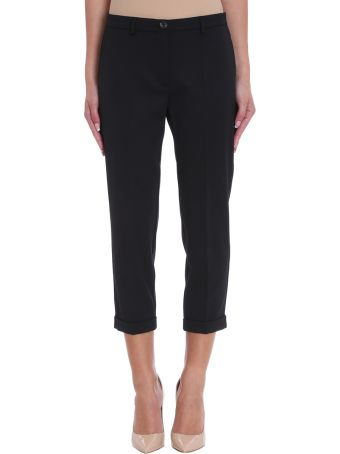 Mauro Grifoni Cropped Black Cr?pe Trousers