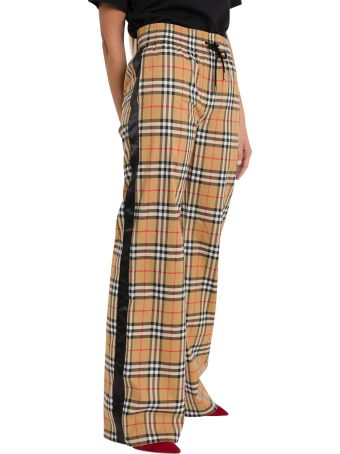 Burberry Check Wide Trousers