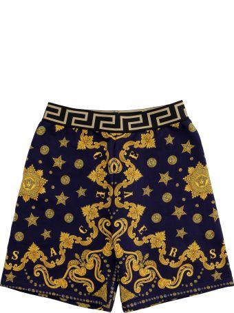 Young Versace Printed Sweatshorts
