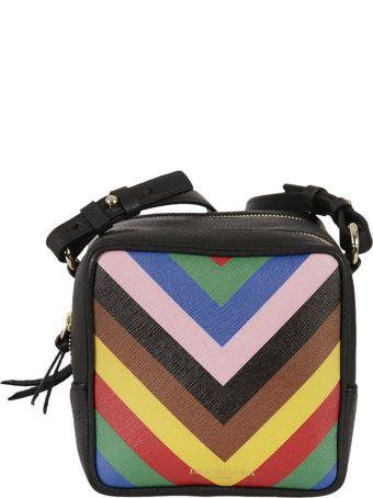 Sara Battaglia Striped Shoulder Bag