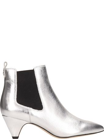 Sam Edelman Ankle Boots In Silver Leather