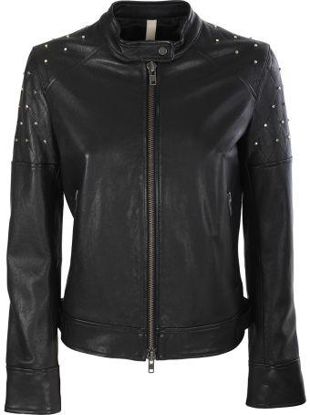 Unfleur Black leather jacket