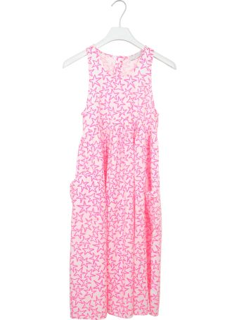 Stella McCartney Kids Star Print Applique Dress