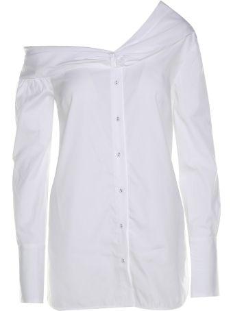 Victoria Victoria Beckham One-shoulder Cotton-poplin Shirt