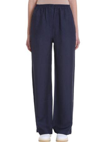 Acne Studios Parnelle Fluid Blue Viscose Trousers