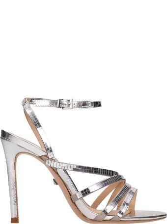 Schutz Silver Leather Sandals