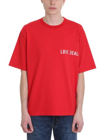 Golden Goose Smith Red Cotton T-shirt