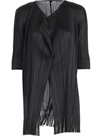 Pleats Please Issey Miyake Knitted Coat
