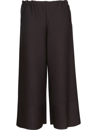 Issey Miyake Cropped Length Wide Trousers