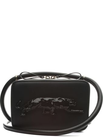 Krizia Embossed-panther Leather Crossbody Bag