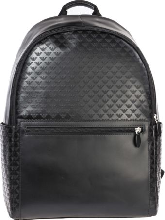 Emporio Armani  Leather Rucksack Backpack Travel