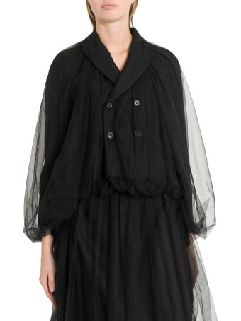Noir Kei Ninomiya Short Doubled Jacket In Tulle