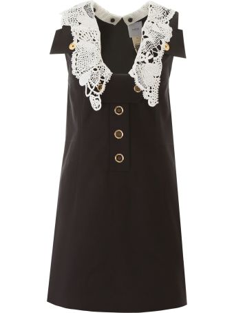 Patou Safari Mini Dress With Crochet