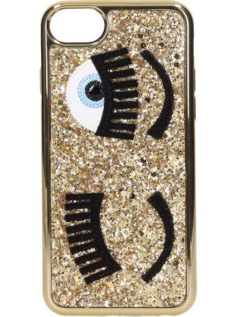 Chiara Ferragni Cover Iphone S6-s7-s8 Flirting Glitter