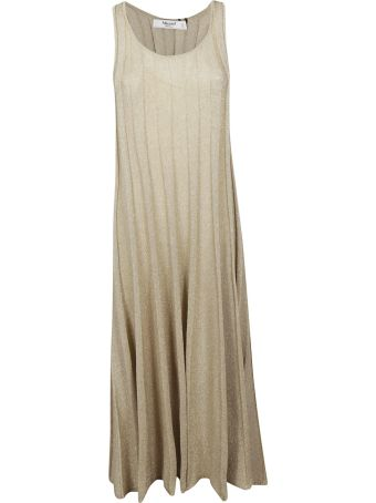 Blugirl Pleated Sleeveless Long Dress