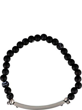 Alexander McQueen Skull And Beads Bracelet