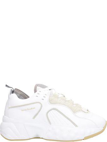 Acne Studios White Leather Manhattan Sneakers