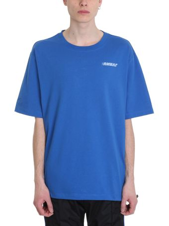 Ben Taverniti Unravel Project Motion Blue Cotton T-shirt