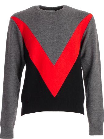 Ami Alexandre Mattiussi Color Block Sweater