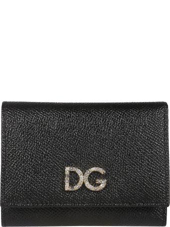Dolce & Gabbana Embellished Dg Logo Wallet