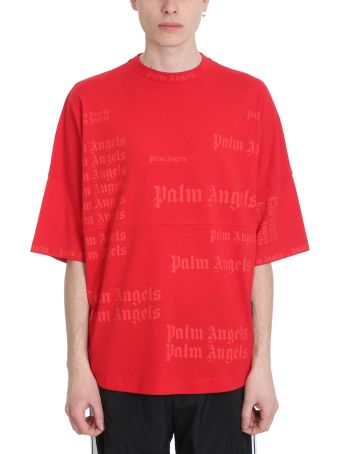 Palm Angels Ultra Logo Red Cotton T-shirt