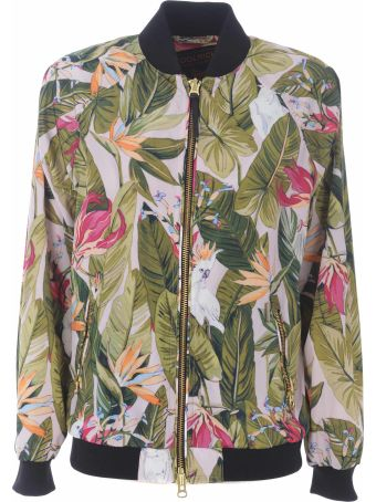 Woolrich Floral Print Bomber