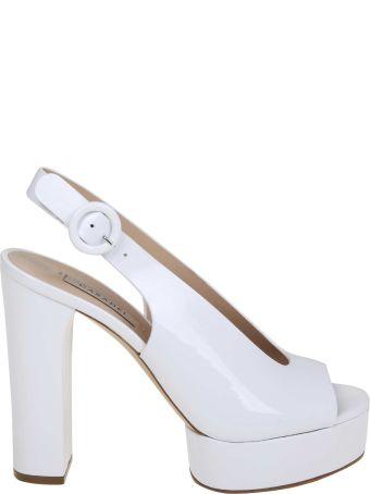 Casadei White Leather Sandals Sandals