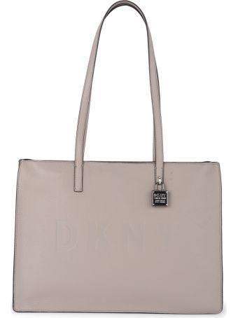 DKNY Commuter Large Dove Grey Leather Shoulder Bag