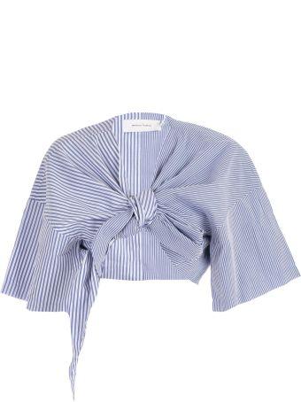 Marques'Almeida Tie Front Cropped Top