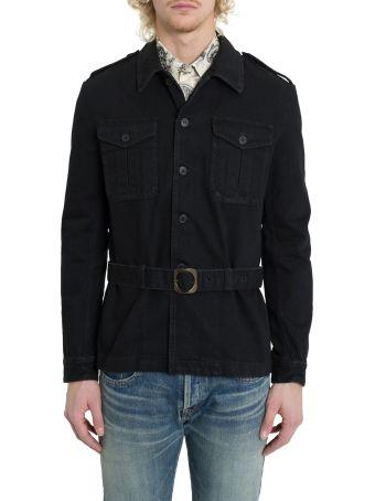 Saint Laurent Denim Safari Jacket