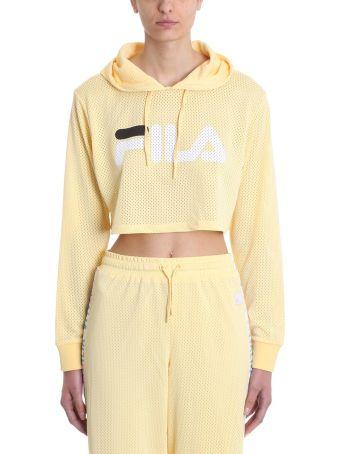 Fila Noemi Cropped Yellow Mesh Sweatshirt