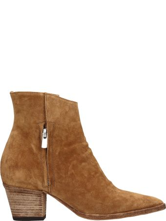 Officine Creative Light Brown Suede Ankle Boots