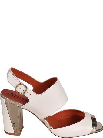 Santoni Metallic Sandals