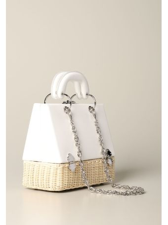 Rodo Handbag Rodo Bag In Wicker And Leather