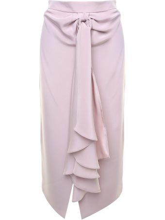 Giorgio Armani Draped Silk-jersey Skirt