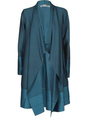 Issey Miyake Striped Drape Coat